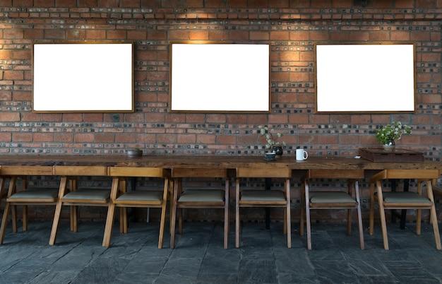 W pubie ze stołkiem i ceglanym cementowym kontuarem tła
