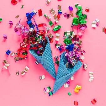 Wafelki stożkowe z konfetti
