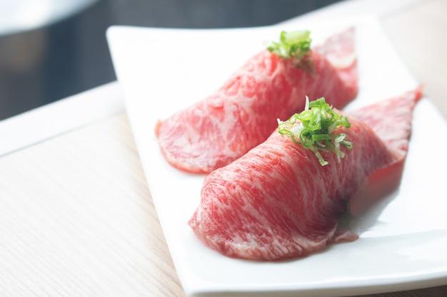 Wagyu wołowina sushi japońskie jedzenie
