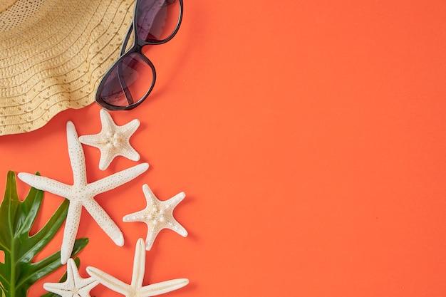 Wakacje letnie wakacje koncepcja pomarańczowy tło