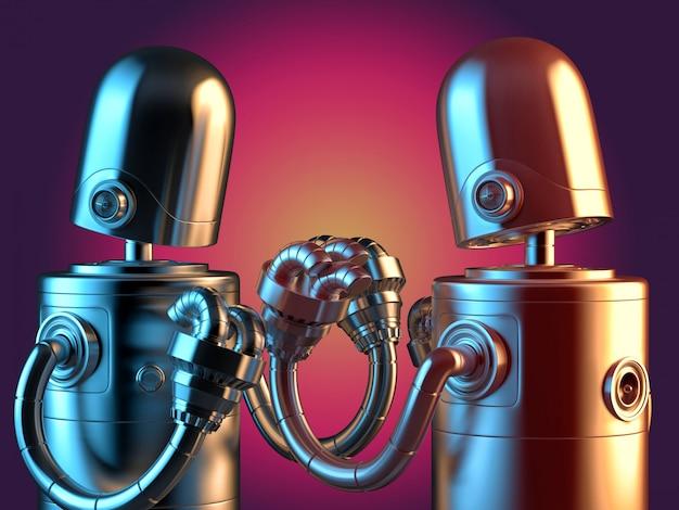 Walcząc z robotami z bliska.