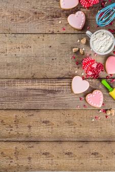 Walentynki do pieczenia tła