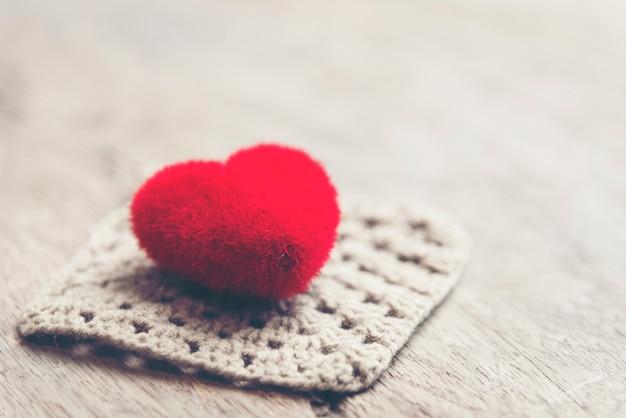 Walentynki-dzień tło z serca, vintage filtr obrazu