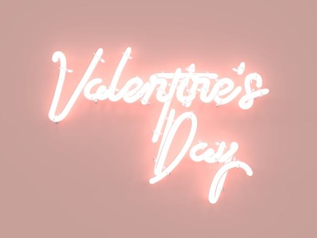Walentynki neon znak