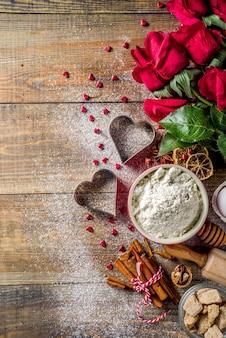 Walentynki pieczenia tło