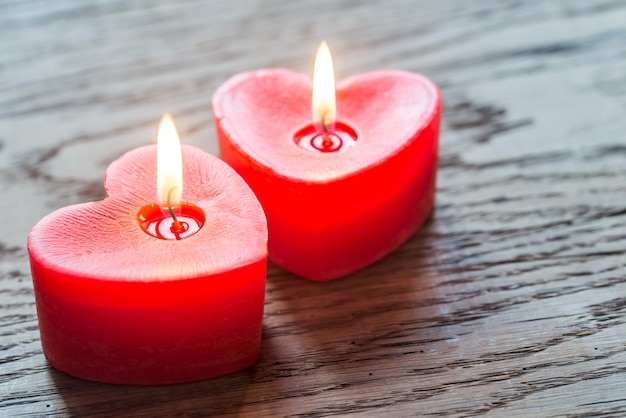 Walentynki płonące świece