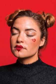 Walentynki portret kobiety zbliżenie
