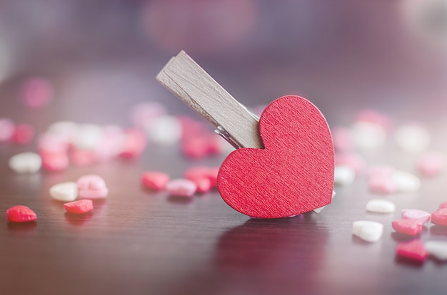 Walentynki tło z serca