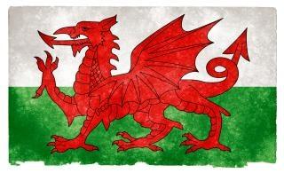 Wales grunge flag umorusany