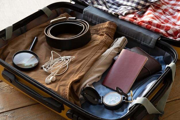 Walizka podróżna i pakowanie preparatów