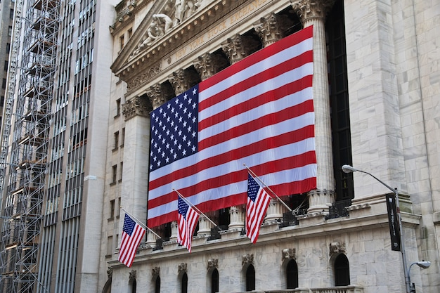 Wall street, nowy jork, stany zjednoczone