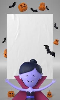 Wampir ozdoba na halloween