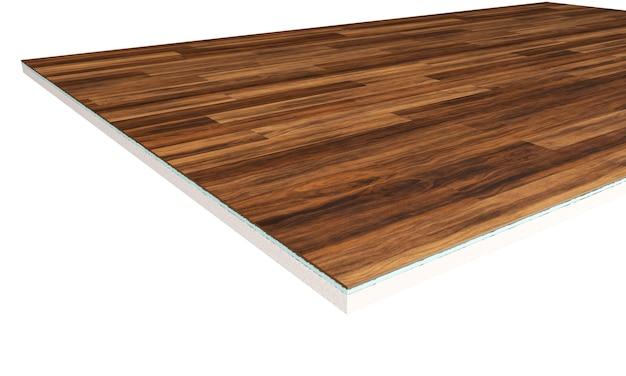 Warstwy podłogowe. kawałek podłogi z linoleum. renderowania 3d
