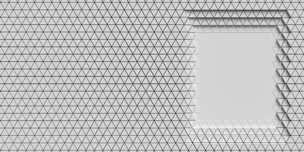 Warstwy wielokątnych kształtów geometrycznych kopiują powierzchnię przestrzeni