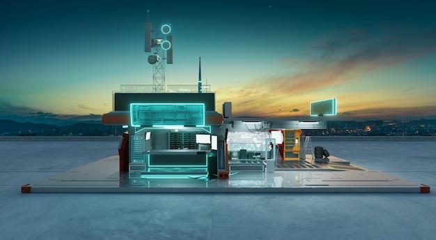 Warsztaty koncepcyjne kreatywne i futurystyczne. fotorealistyczne renderowanie 3d.