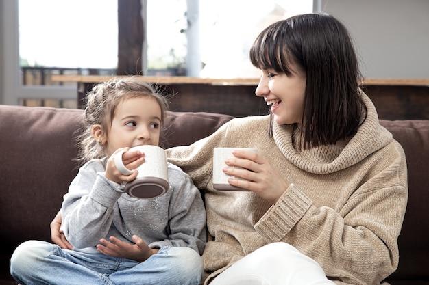 Wartości rodzinne i dobry czas. pojęcie przyjaźni dzieci i szczęśliwego czasu z rodziną.