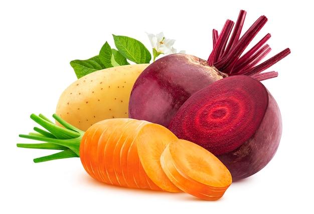 Warzywa na białym tle