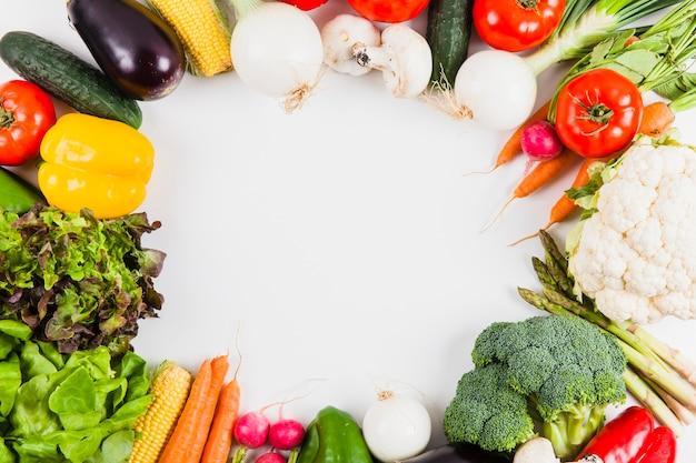 Warzywa o okrągłej przestrzeni