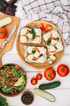Warzywa, sałatki i tartiny
