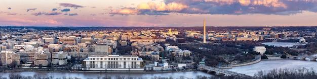 Washington dc pejzaż miejski zmierzch panoramiczny