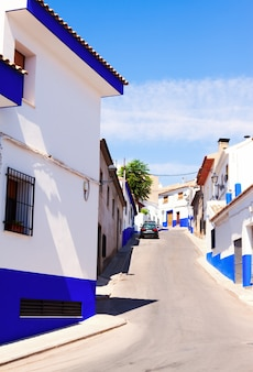 Wąska ulica na starym mieście. la mancha