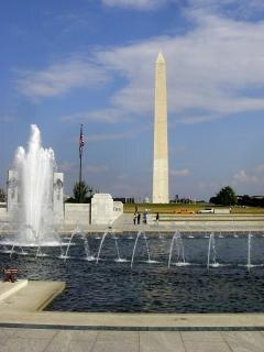 Waszyngton słynne zabytki, jesień