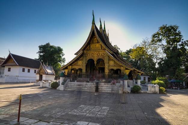 Wat xieng pasek w złotej miasto świątyni w luang prabang, laos.