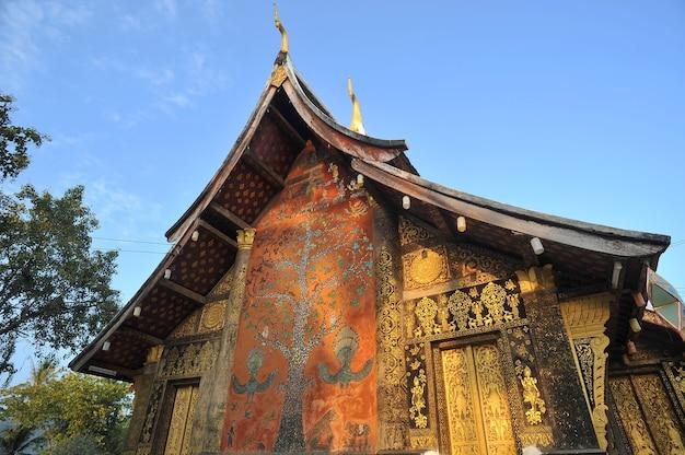 Wata xieng paska punkt zwrotny w luang prabang, laos