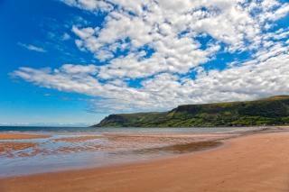 Waterfoot plaża hdr królestwo