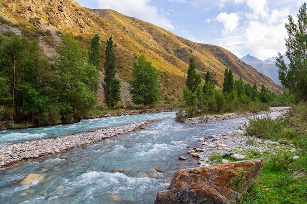 Wąwóz górski z rzeką