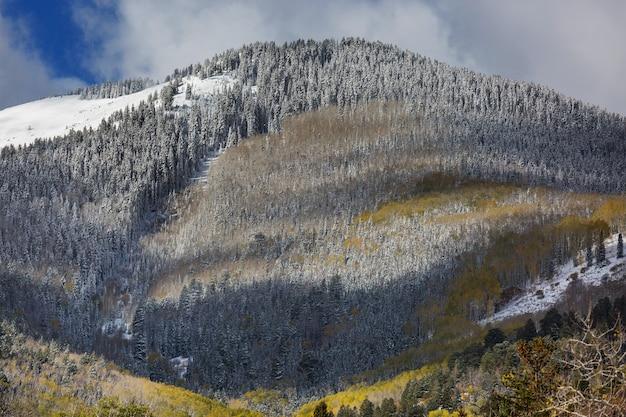 Wczesna zima w górach