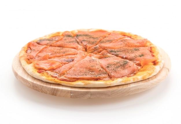 Wędzona łosoś pizze
