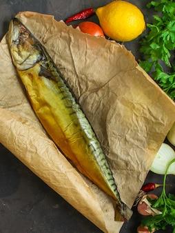 Wędzona makrela z dodatkami