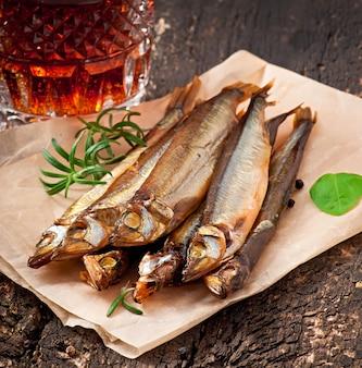 Wędzona ryba z piwem