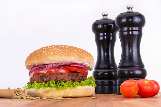Wegański hamburguer