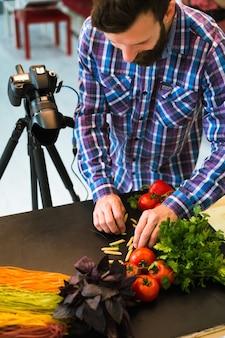 Wegetariańska fotografia kulinarna blog fotografia stylista fotograf koncepcja