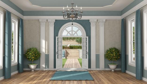 Wejście do domu luksusowej willi