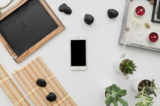 Wellness dekoracji z smartphone