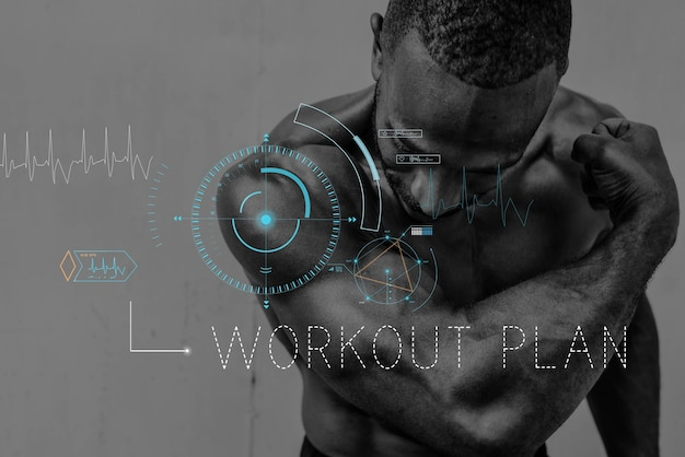 Wellness zdrowie lifestyle workout graphic word