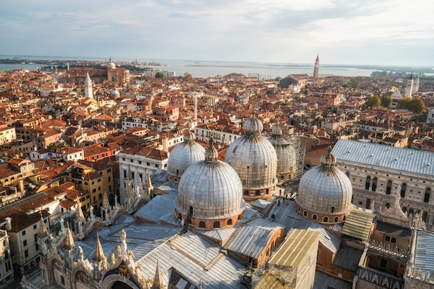 Wenecja włochy skyline z placu świętego marka