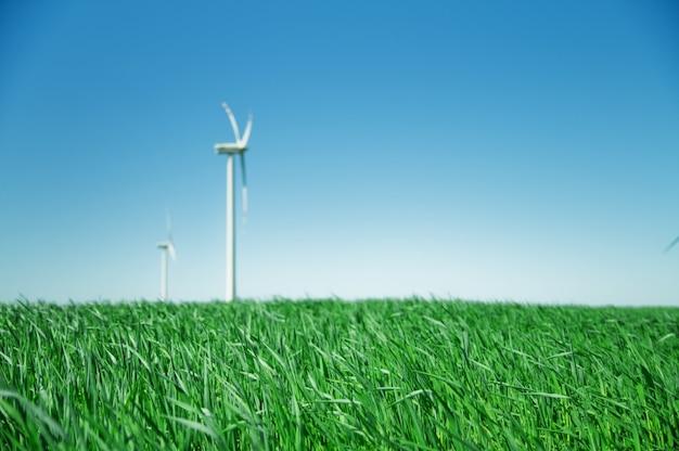 Wentylator wiatru w polu