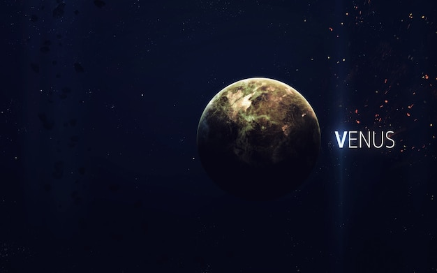 Wenus - piękna grafika w wysokiej rozdzielczości przedstawia planetę układu słonecznego