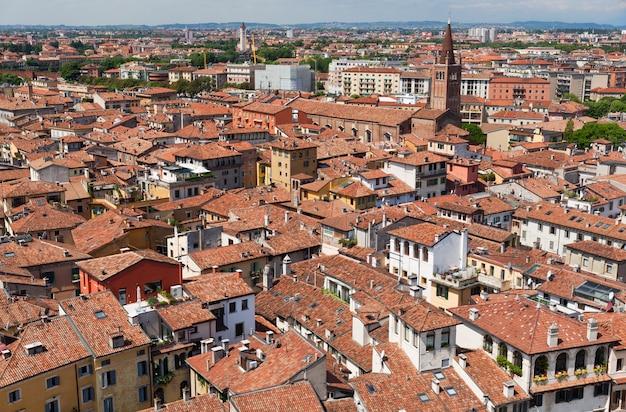 Werona widok na stare miasto w letni dzień
