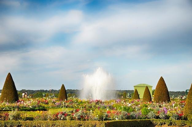 Wersal, francja 10 września 2016: ogród wersalski