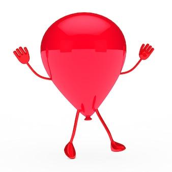 Wesoła czerwony balon skoków