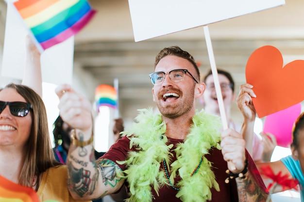 Wesoła gejowska duma i festiwal lgbt