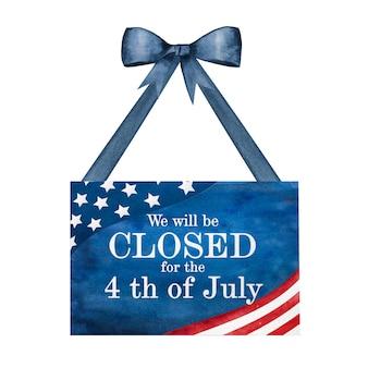 Wesołego dnia niepodległości. rysunek flagi amerykańskiej. koncepcja święta narodowego. zbliżenie, widok z góry, tekstura. gratulacje dla rodziny, krewnych, przyjaciół i współpracowników