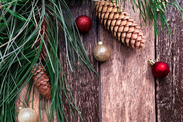 Wesołych świąt bożego narodzenia nowy rok skład rustykalny.