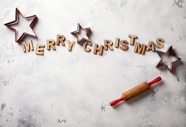 Wesołych świąt bożego narodzenia pieczenia tło