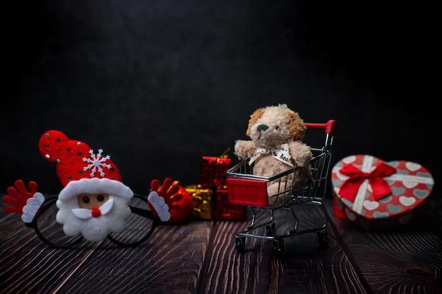 Wesołych świąt bożego narodzenia zakupy koncepcja zdjęcie festiwalu